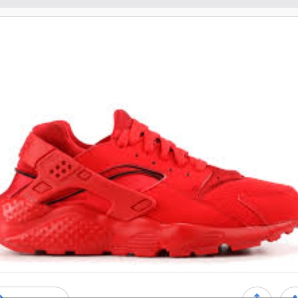 Nike Shoes | Red Huaraches Grade School